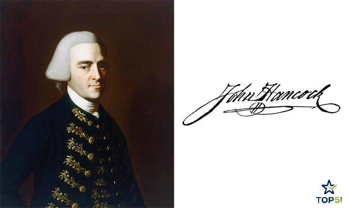 celebrity autographs John Hancock