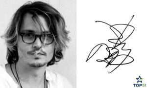 celebrity autographs Johnny Depp