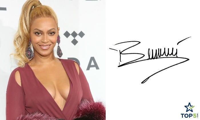 celebrity autographs Beyoncé