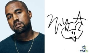 celebrity autographs Kanye West