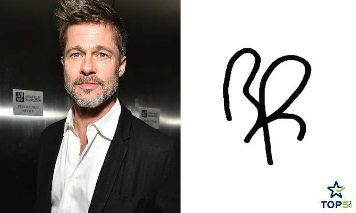 celebrity autographs Brad Pitt