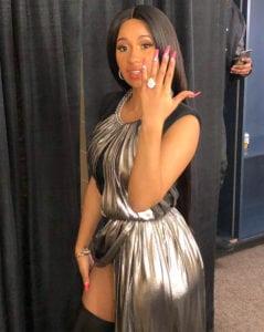 celebrity engagement rings: Cardi B