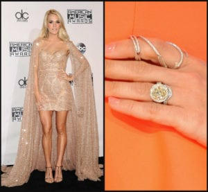 celebrity engagement rings: carrie underwood