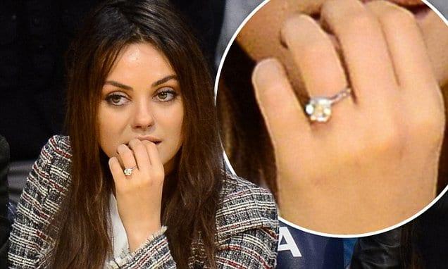 "Celebrity engagement rings mila kunis ""width ="" 636 ""height ="" 382"