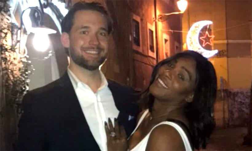 celebrity engagement rings serena williams
