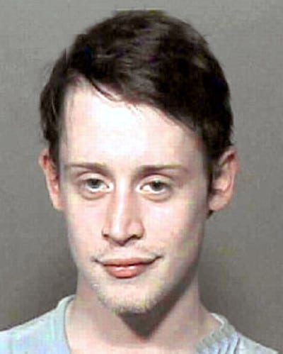 celebrity mug shots Macaulay Culkin