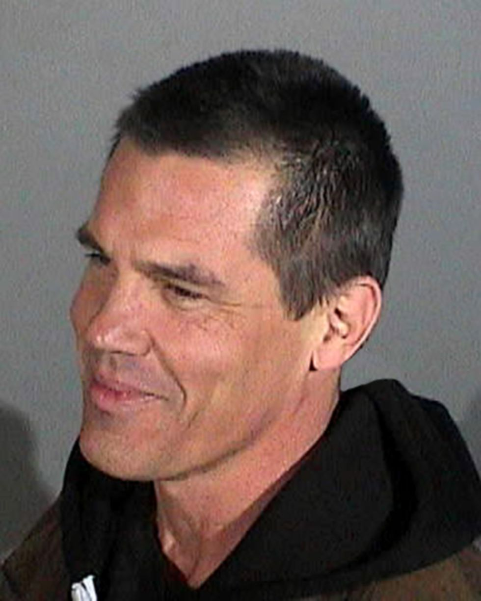 celebrity mug shots josh brolin