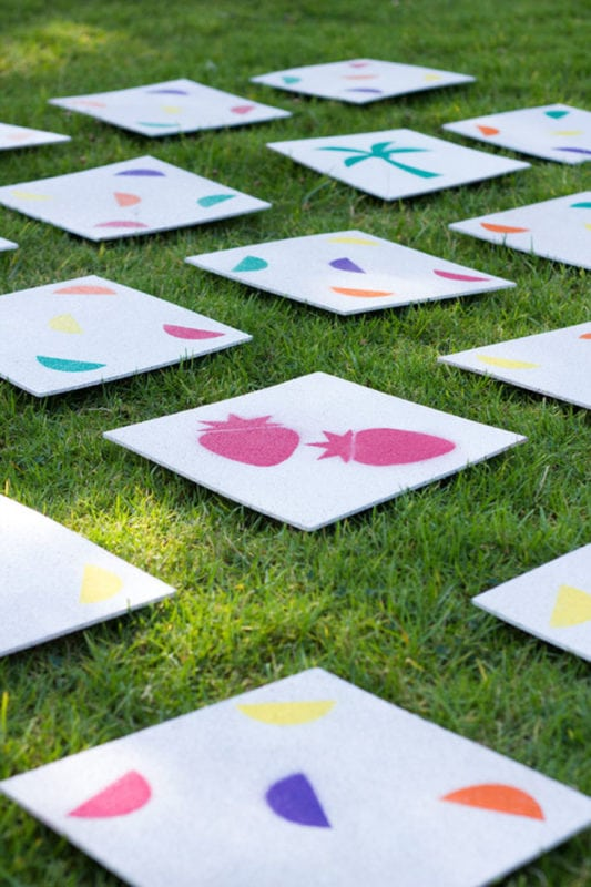 diy lawn matching game for your backyard