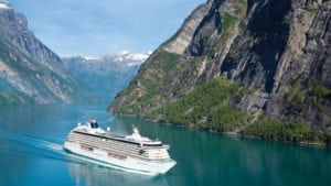 european cruises ship in the baltic sea