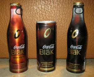 failed products blak coca cola