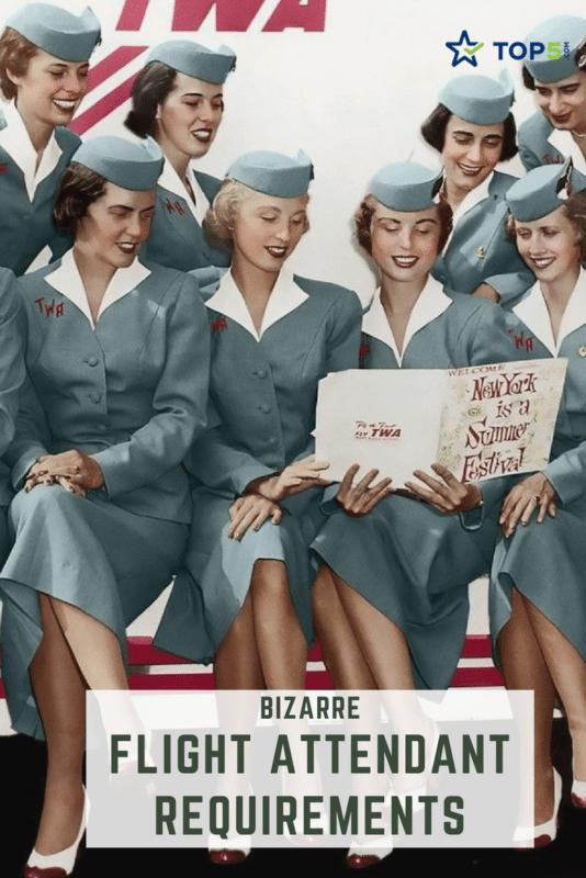 bizarre flight attendant requirements