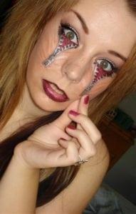 funny tattoos eyes zipper