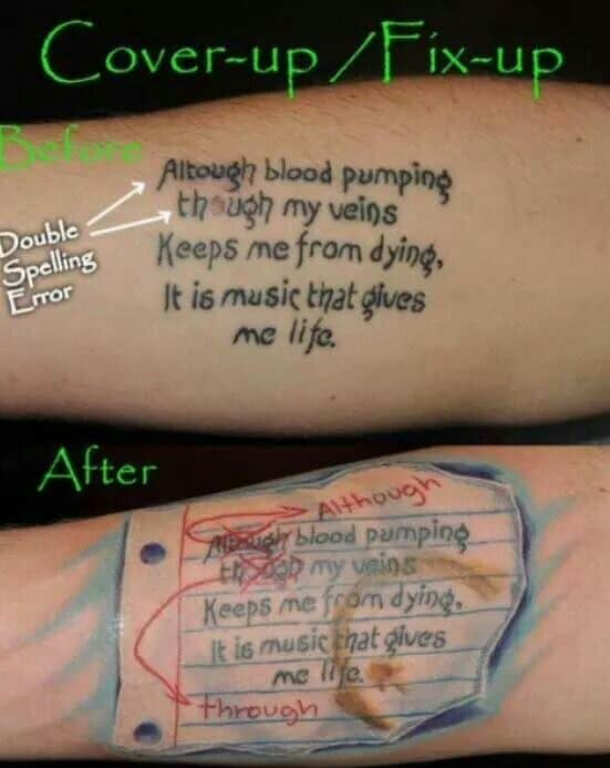 funny tattoos - spelling mistake