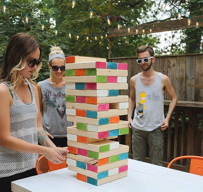 giant Giant Jenga diy backyard games
