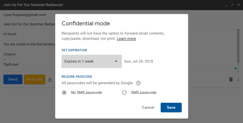 gmail hacks confidential mode 2