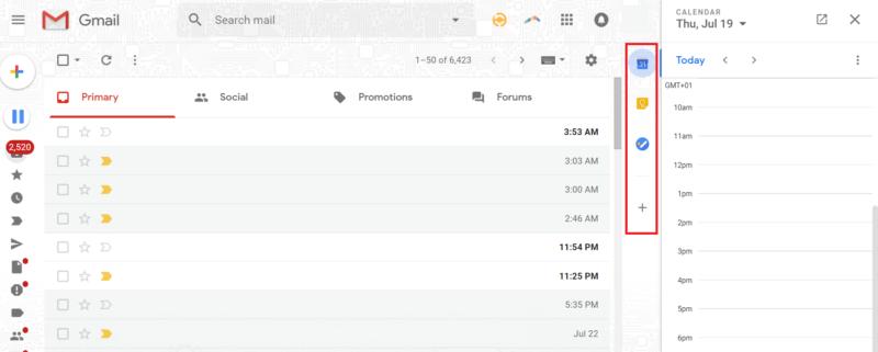 gmail hacks sidebar