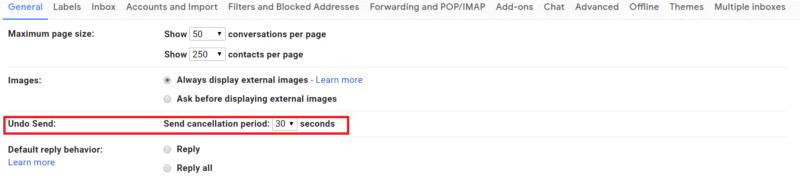 gmail hacks undo send