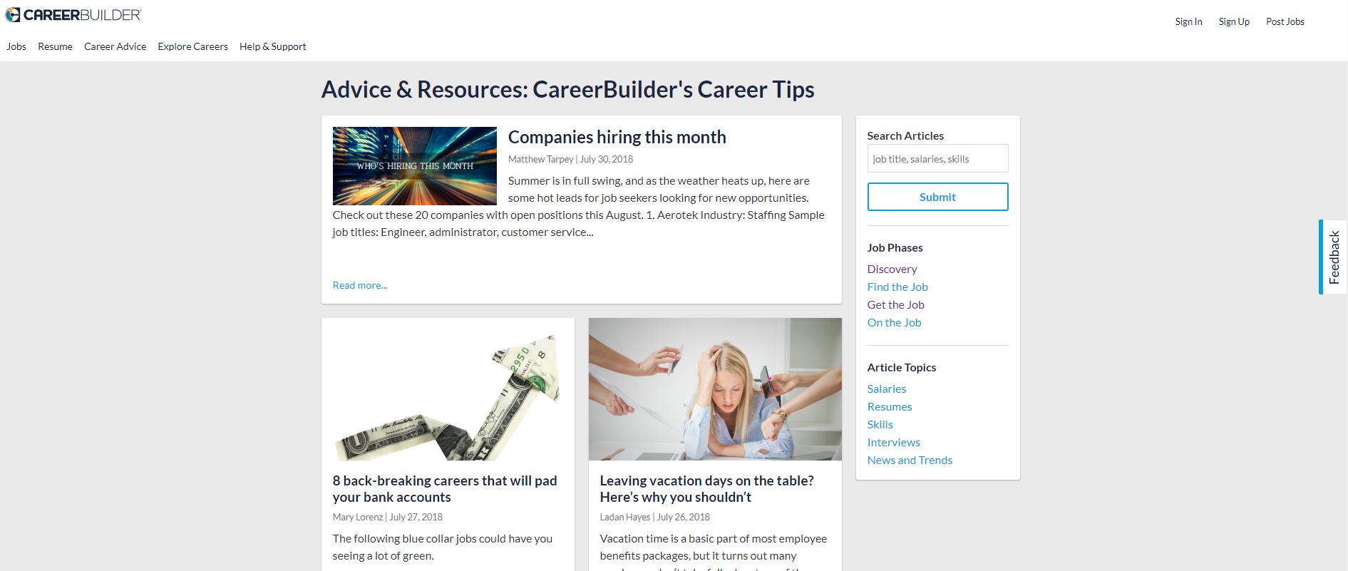 job search advice career builder