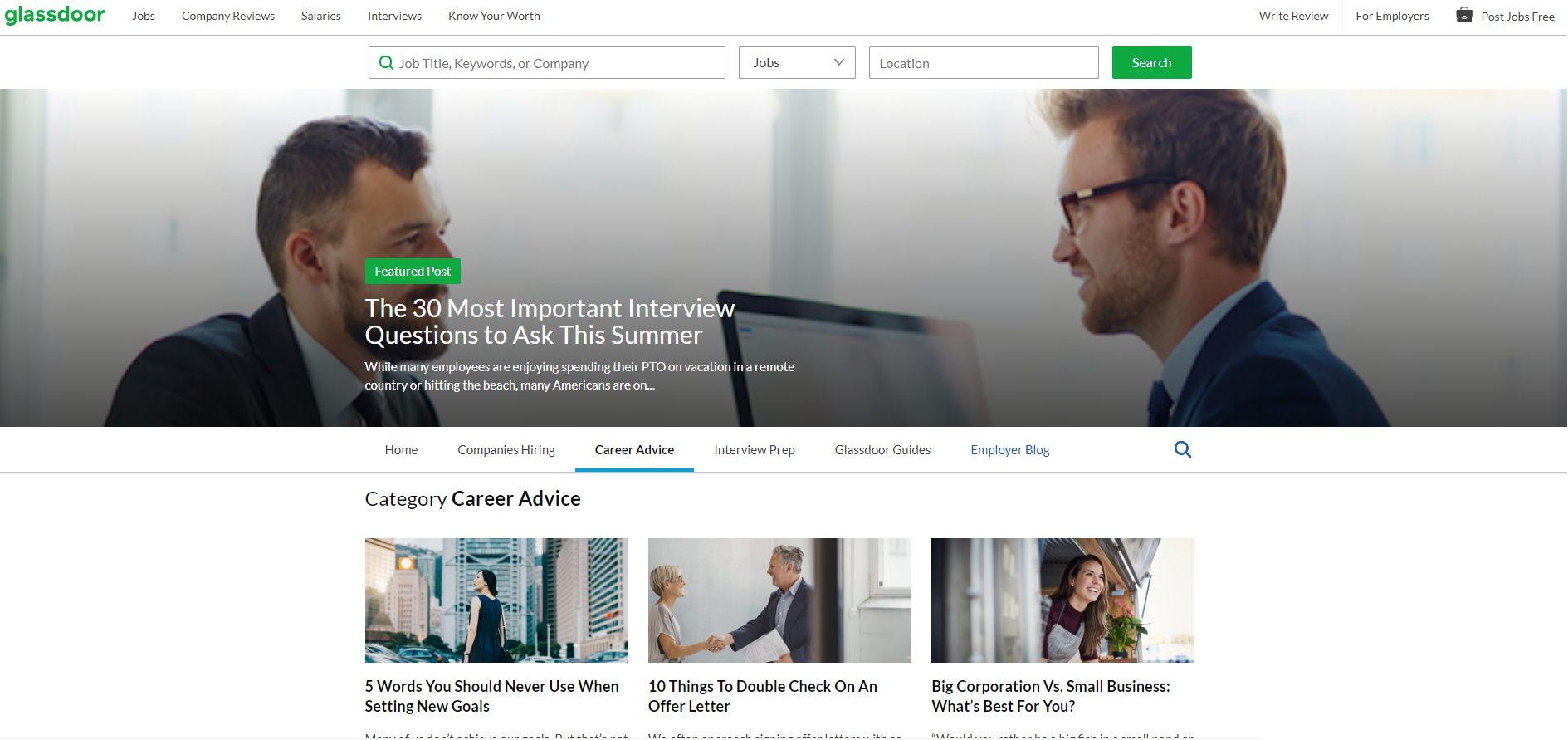 job search advice glassdoor blog