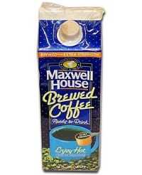 maxwell house boxed coffee failed products