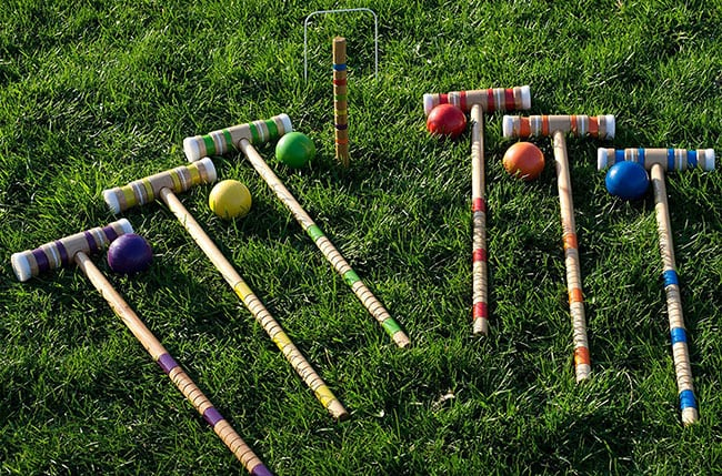 top back yard summer games -croquet