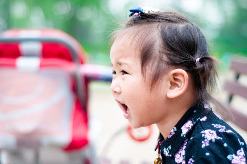 travel nightmares: child screaming