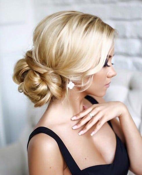wedding updos: sleek braided knot