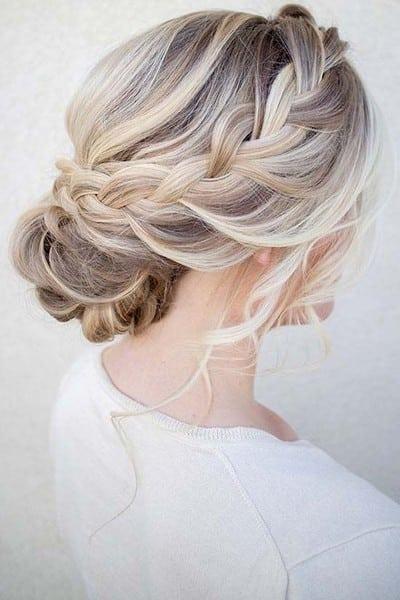 wedding updos: the soft side-swept bun