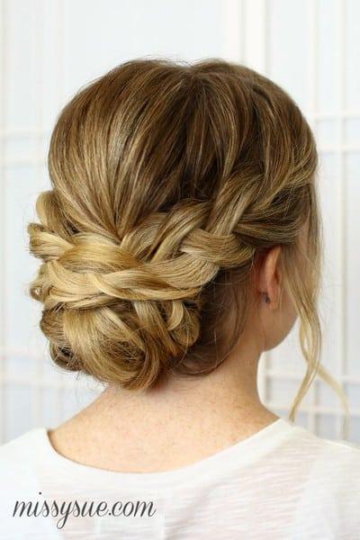 wedding updos: soft braided bun