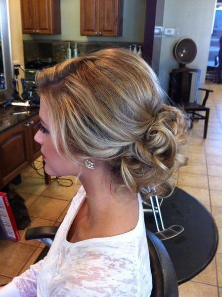 wedding updos: sleek yet messy bun