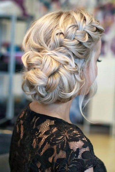 wedding updos: French twist braid