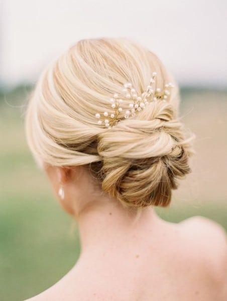 wedding updos: little pearls