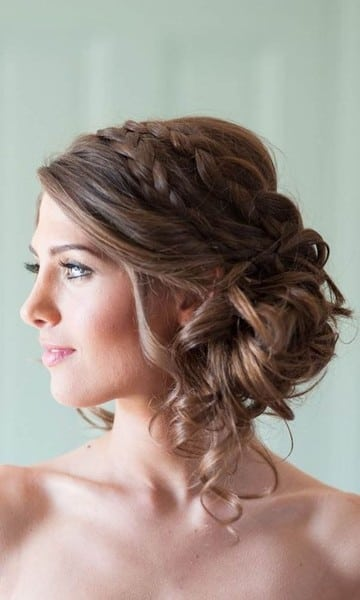 wedding updos: double braided sidesweep