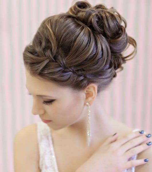 wedding updos: the front braid