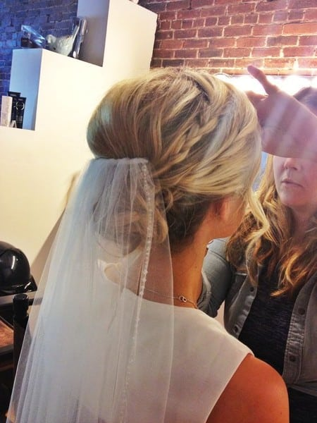 wedding updos: the low braided bun