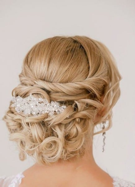 wedding updos: the twisted curl