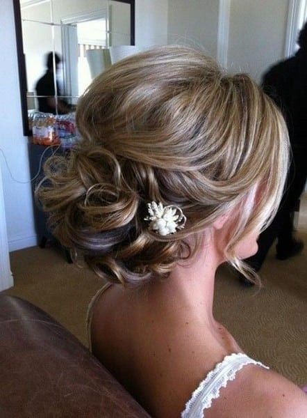 wedding updos: classic updo with embellishment