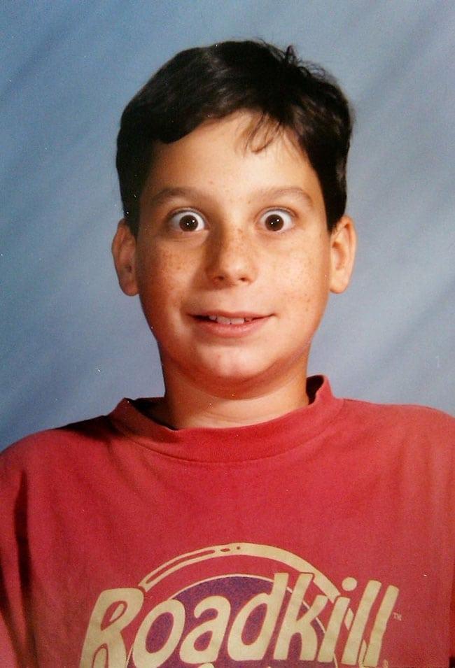 awkward school photos | boy with huge eyes