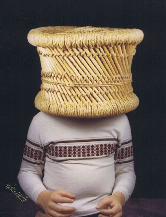 awkward school photos | basket over head