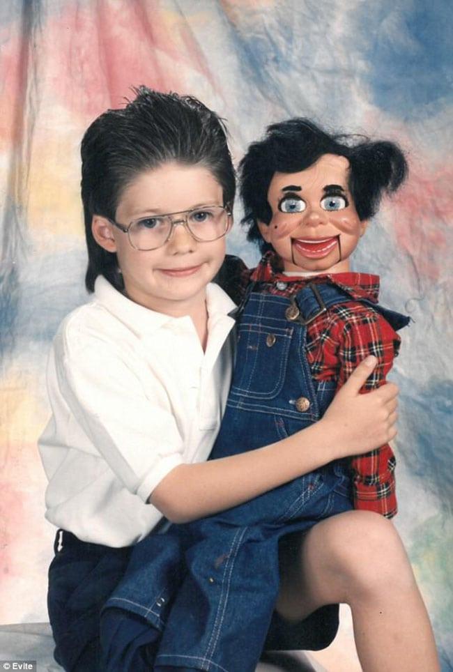 awkward school photos | boy with dummy