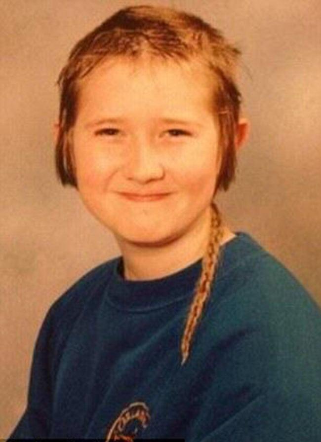 awkward school photos | mullet braid