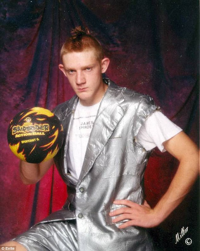 awkward school photos | soccer and silver vest