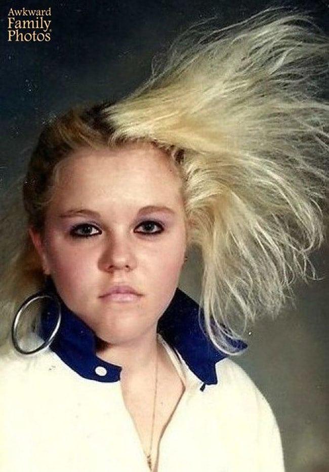 awkward school photos | flyaway hair