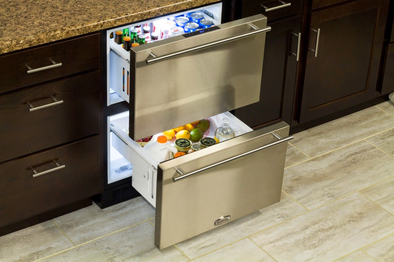 best refrigerator for small spaces | Kitchen Aid Double-Drawer Fridge