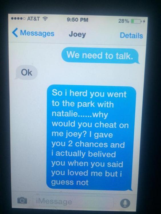 break up young teenagers text