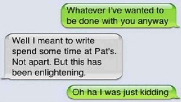 breakup texts autocorrect savage