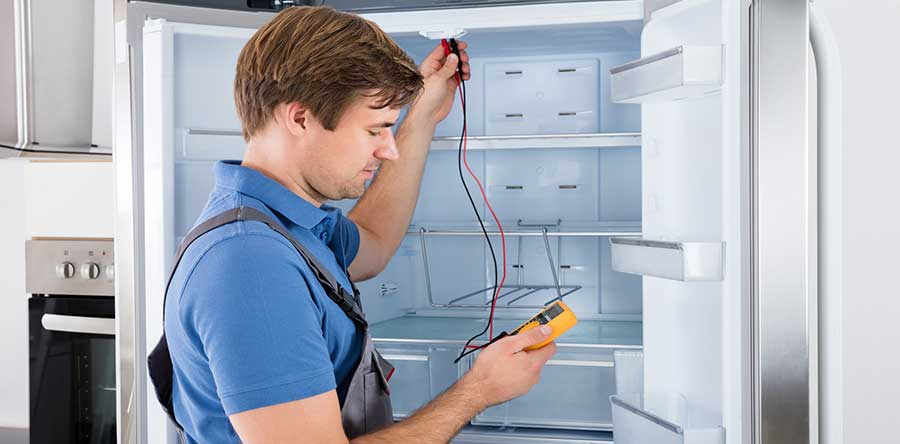 buying a refrigerator   checking hook ups