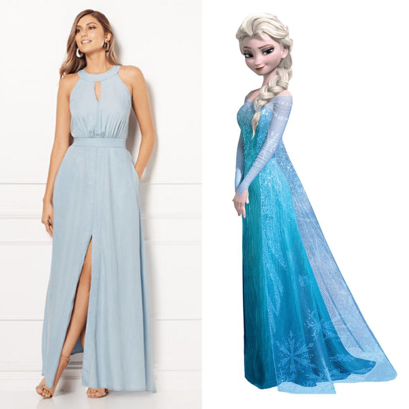 princess elsa-inspired disney dress