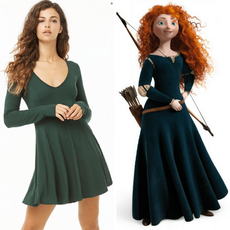 Merida-inspired grown-up Disney dress for adults