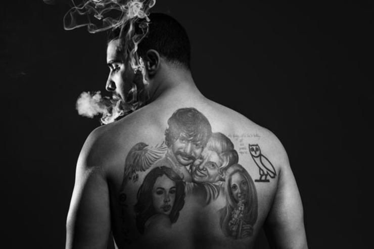 drake back tattoo
